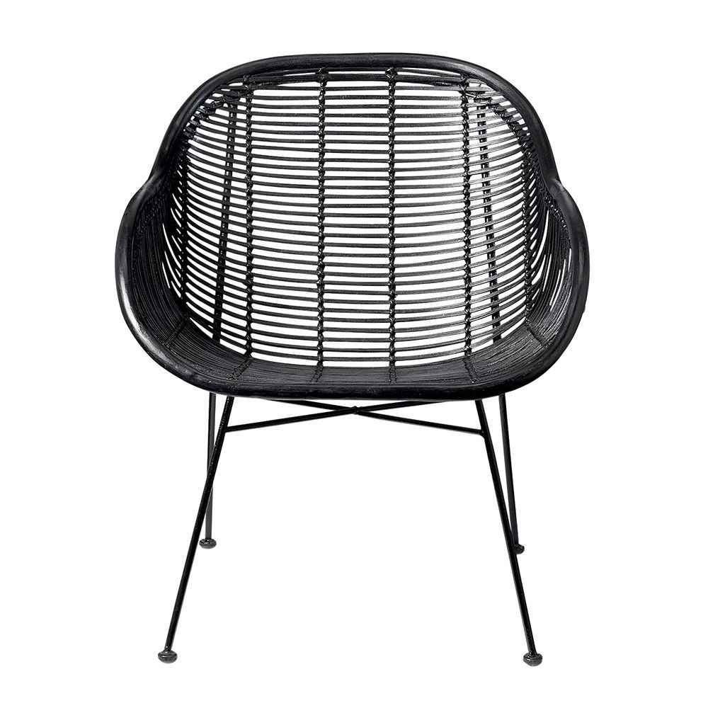 Oval lounge chair - Add Beautifully Light And Airy Design To The Home With This Braided Lounge Chair From Bloomingville In Sleek Black This Rattan Chair Has A Braided Woven