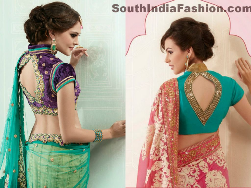 Blouse designs saree blouse back designs blouses neck designs 30 jpg - Saree Blouse Neck Design Collar Neck Saree Blouse Patterns With Beautiful Back