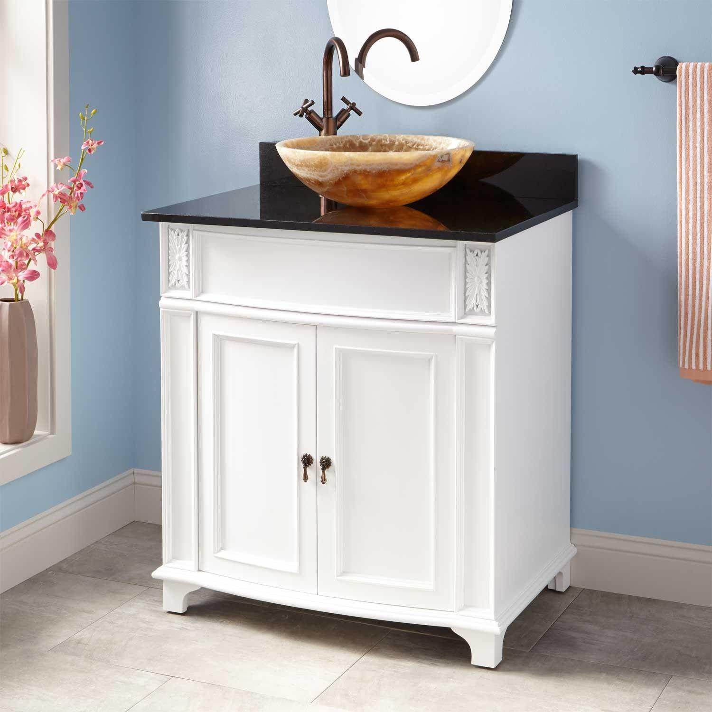 """30"""" Kinloch Vessel Sink Vanity  White  Vessel Sink Vanity Cool 30 Bathroom Vanity With Drawers Inspiration"""