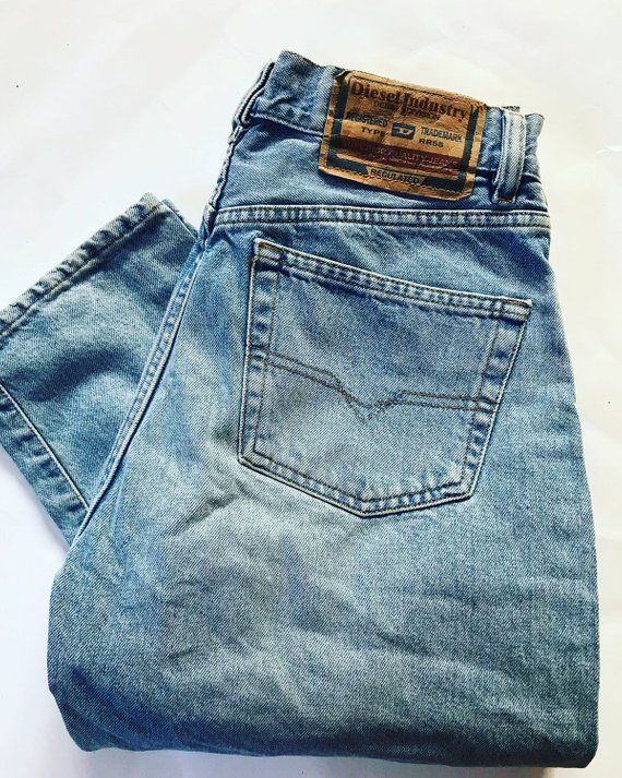 31d09887 Vintage DIESEL Mens Denim Jeans / Size 30 / 90's / Pants / Trousers / Made  in Italy / Diesel Industr