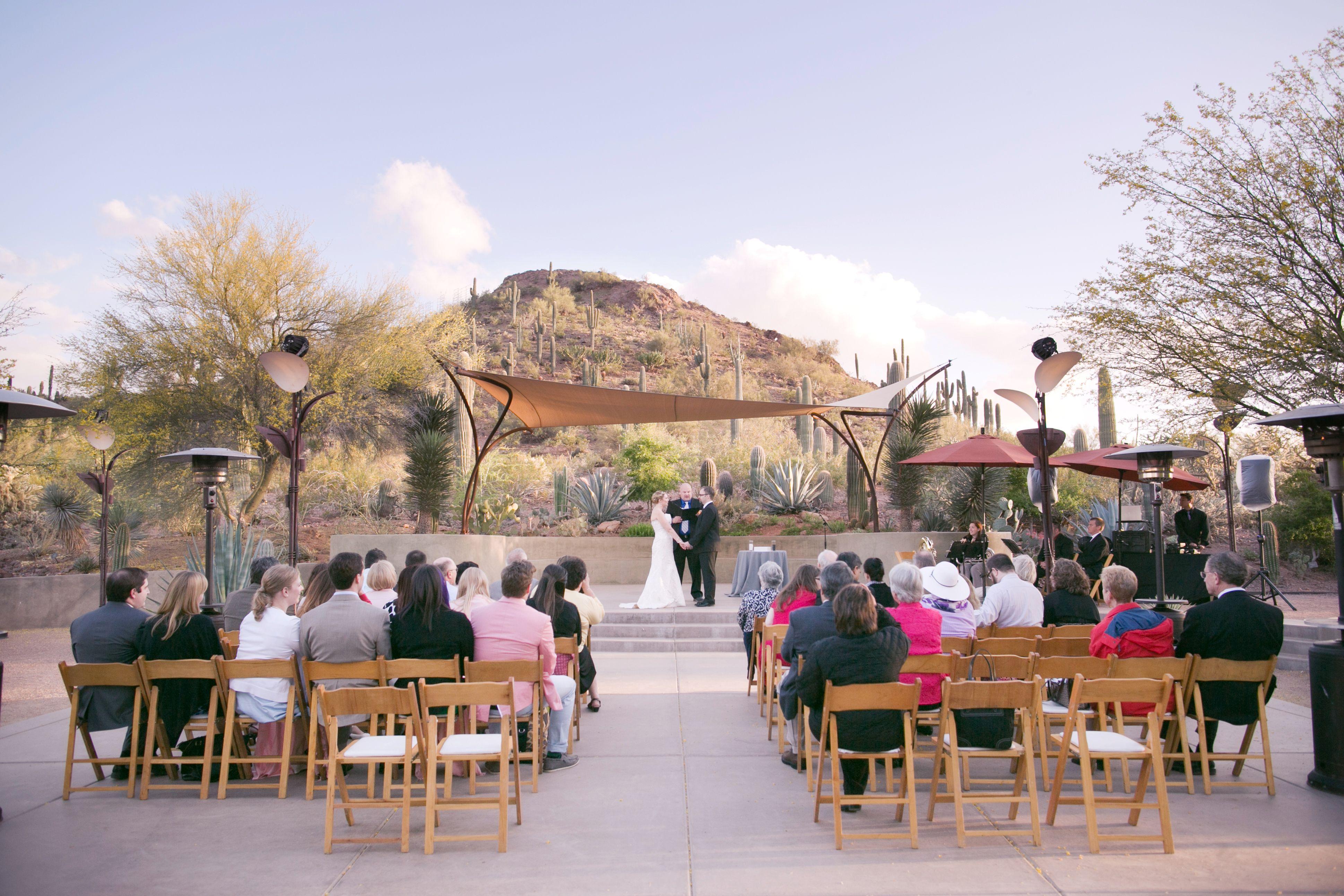 Wedding · Venue: Ullman Terrace At Desert Botanical Garden.