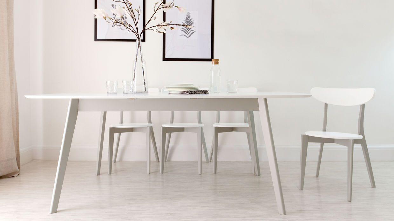 Aver Grey And White Extending Dining Set White Kitchen Chairs White Dining Chairs Grey Dining Tables