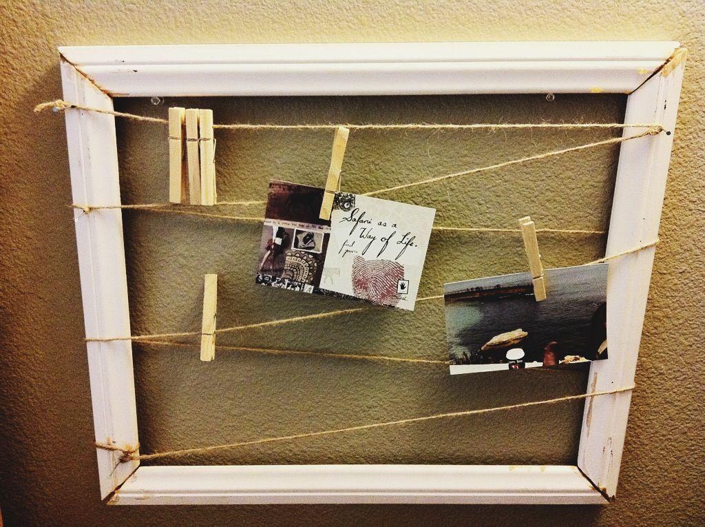 Homemade frame diy pinterest homemade frames for Handmade picture frame ideas