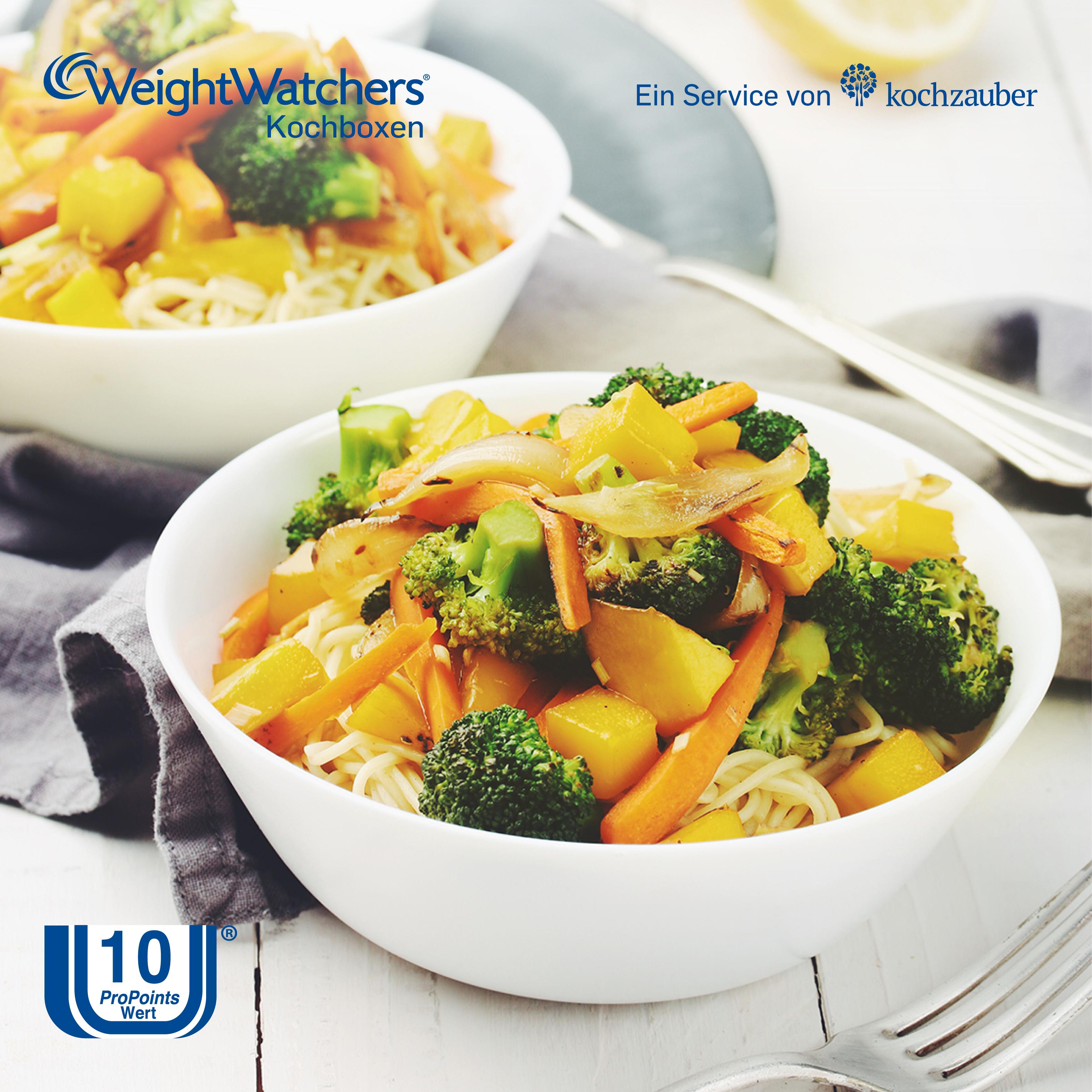 Vegetarische #Thaipfanne mit Mango und Zitronendip aus der #WeightWatchers Kochbox. Jetzt sichern unter: http://www.kochzauber.de/lp/weight_watchers?wmc=1675&utm_medium=social_media&utm_source=pinterest&utm_campaign=1675&utm_content=weightwatcherrezeptediewirlieben_organ