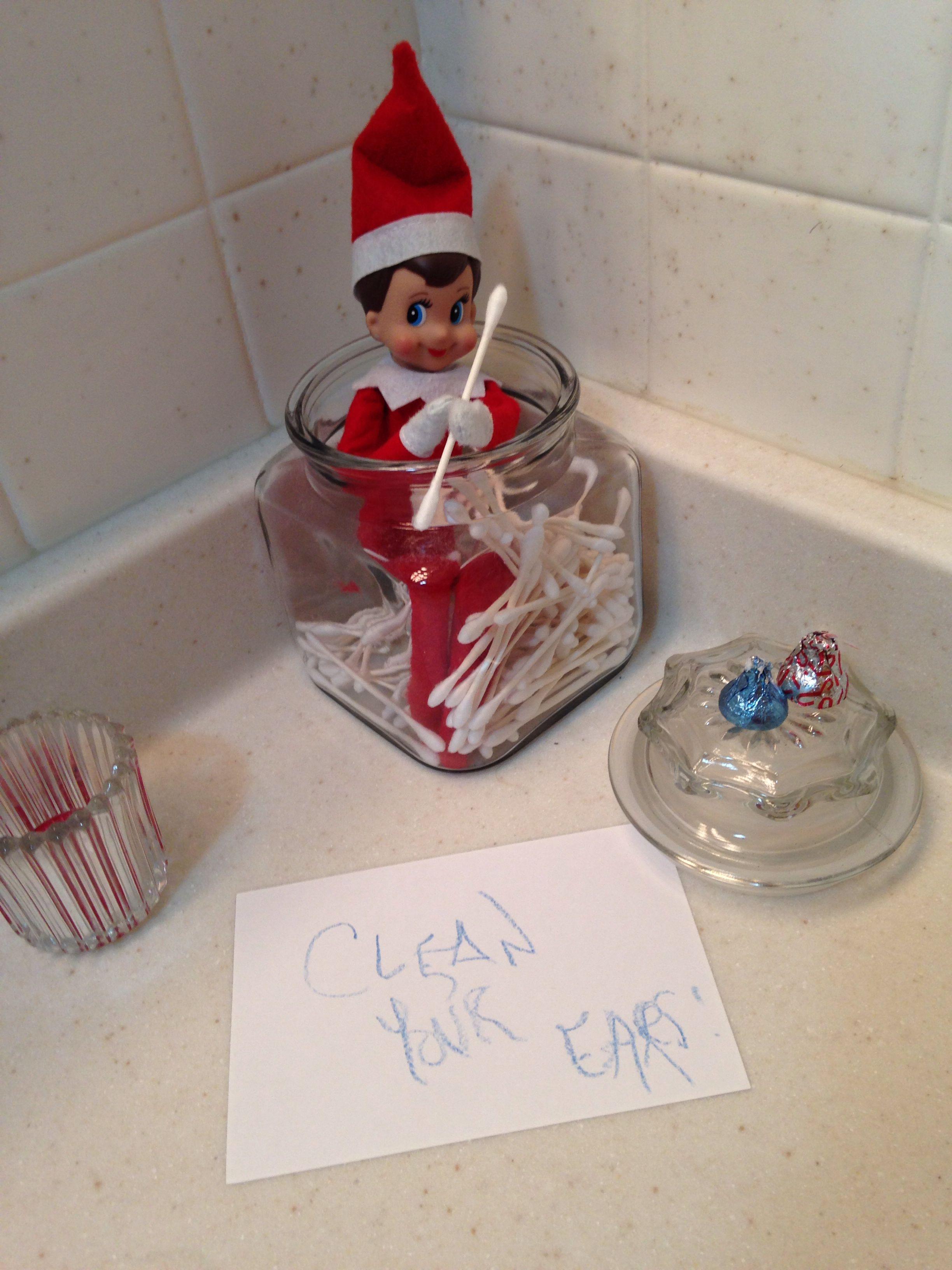 Elf Clean your ears Elf fun, Elf, Christmas entryway