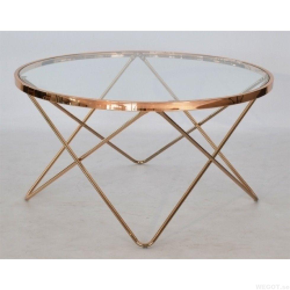 Melissa, ett runt soffbord i glas och mässing 85 cm Vardagsrumsmöbler Pinterest Modern