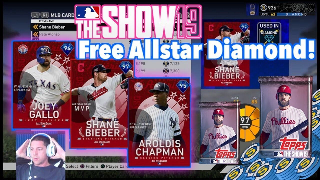 Mlb The Show 19 Free All Star Diamond Pack Opening Mlb The Show All Star Mlb