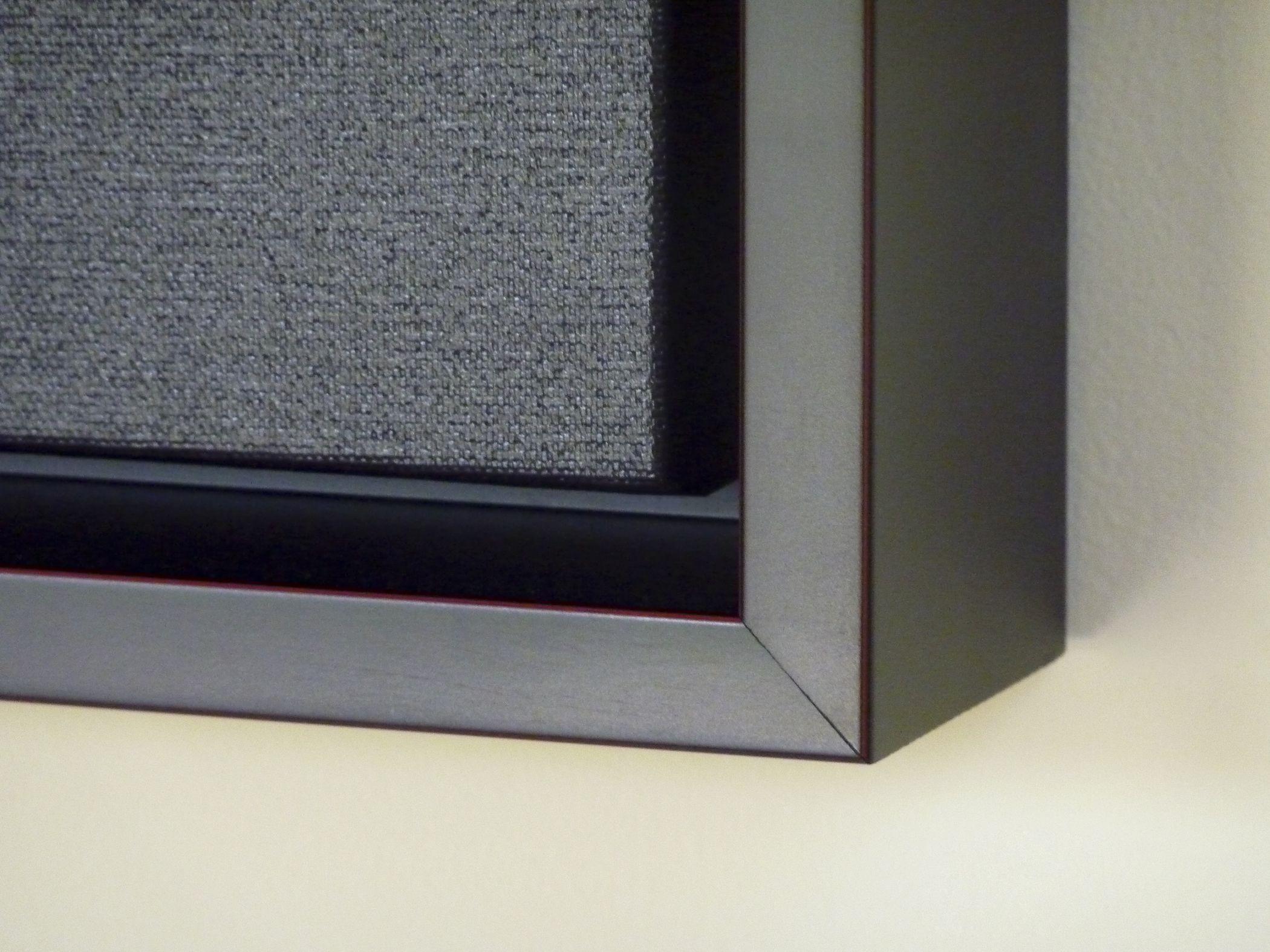 floating frame close up