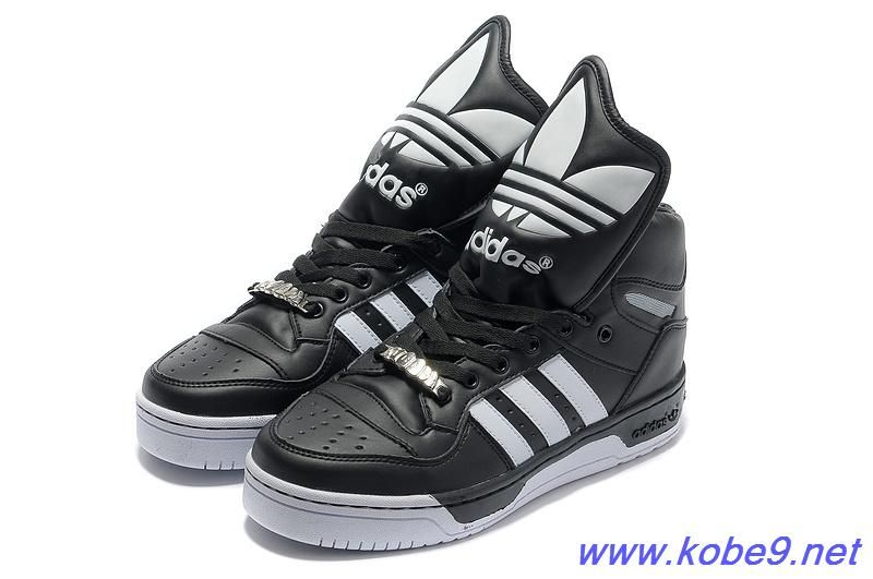 2013 Adidas X Jeremy Scott Big Tongue Shoes Black White For Sale