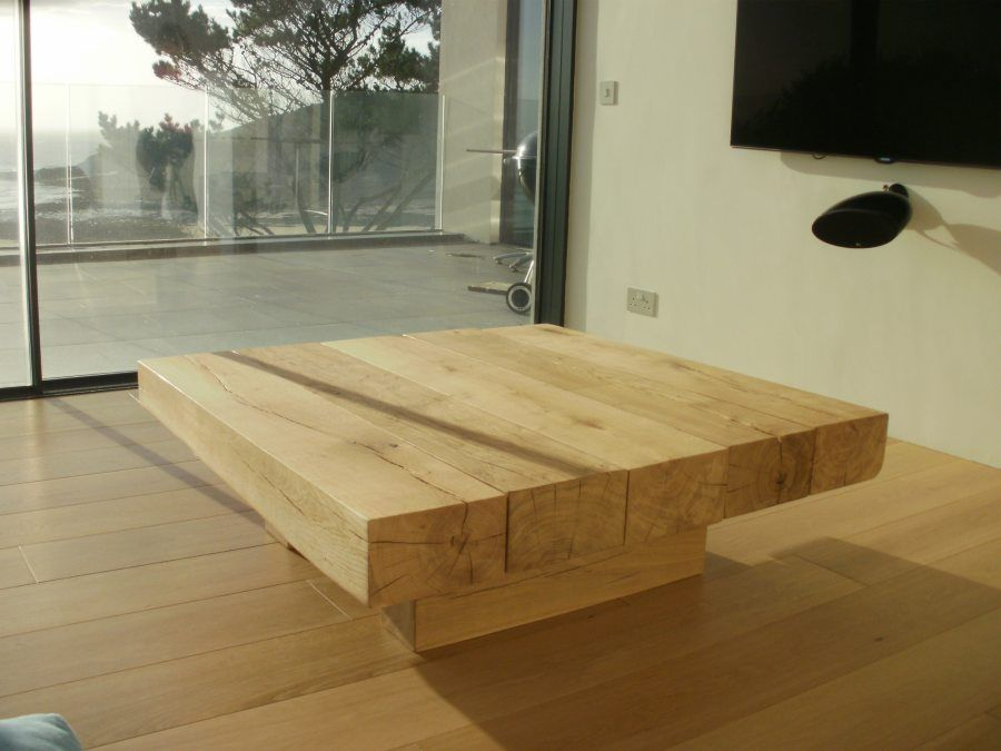 A 5 Beam Square Floating Coffee Table 1100mm Furniture5