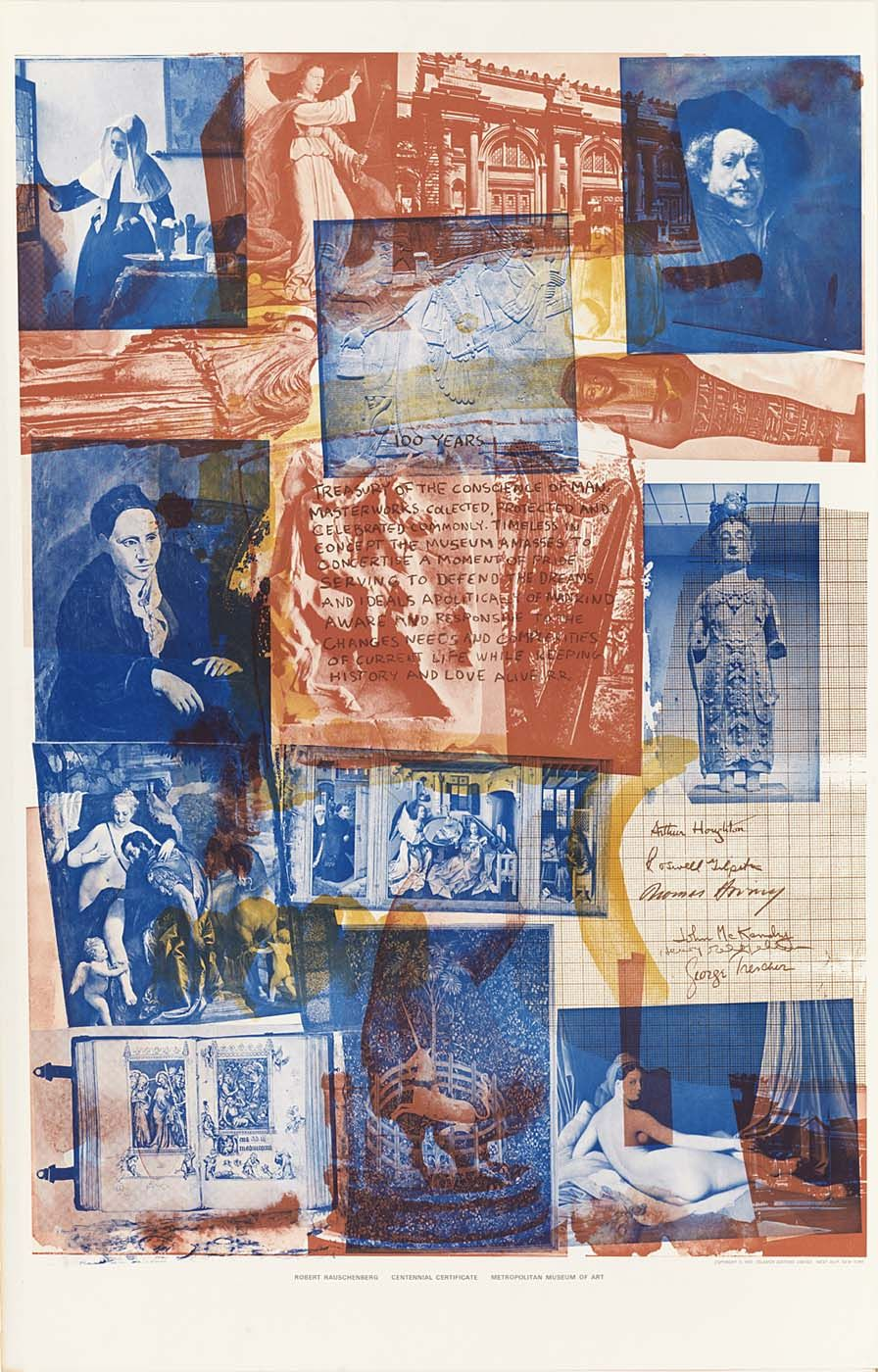 Robert Rauschenberg Art Poster Affiche