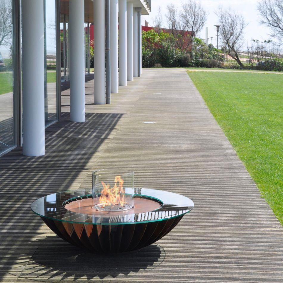 Bioethanol Kamin Im Garten Von Glamm Fire