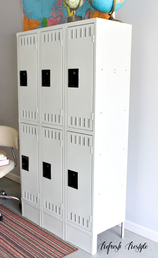 How to spray paint a locker room crafts lockers and mud for How to spray paint a room