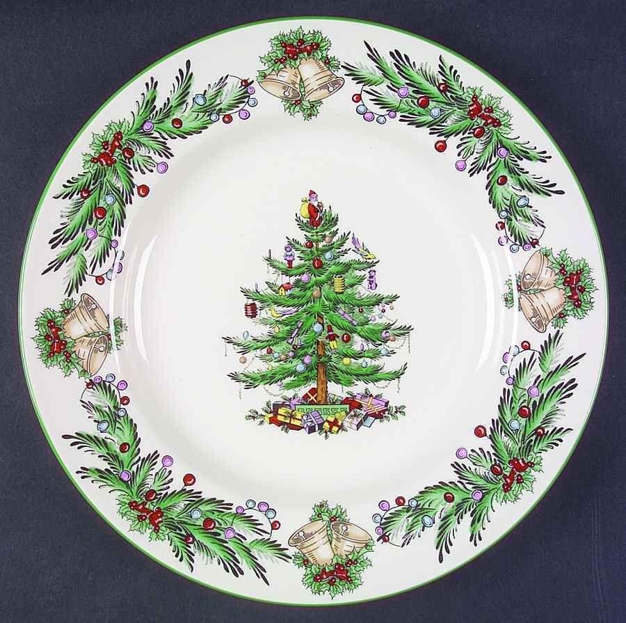 Spode Christmas Tree Garland Dinner Plate 5790333 Christmas Tableware Spode Christmas Tree Christmas Dinnerware