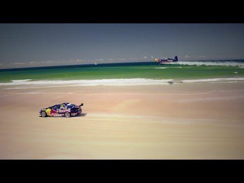 V8 Supercar Vs Airplane Race On An Australian Beach Super Cars Australian Beach Beach Watch