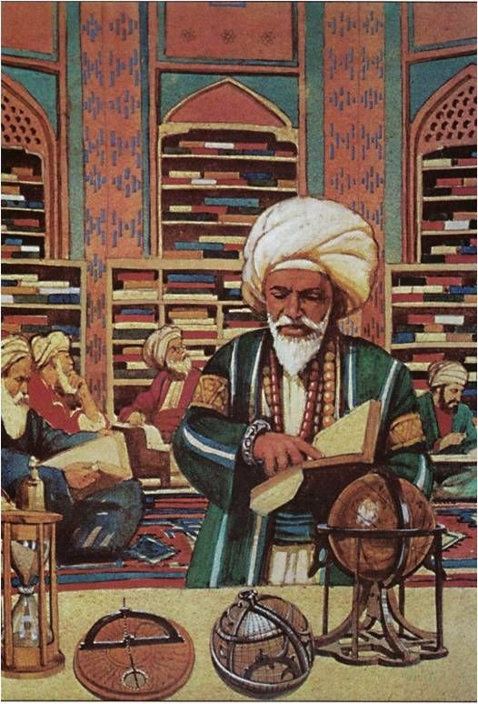 In the Muslim Empire there were Houses of Wisdom that scholars could