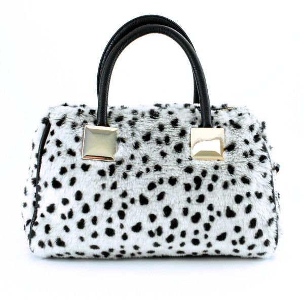 Adrienne Landau – Satchel ($50) ❤ liked on Polyvore featuring bags, handbags, spot, leopard print crossbody purse, structured purse, polka dot handbag, chain strap purse et leopard print purse
