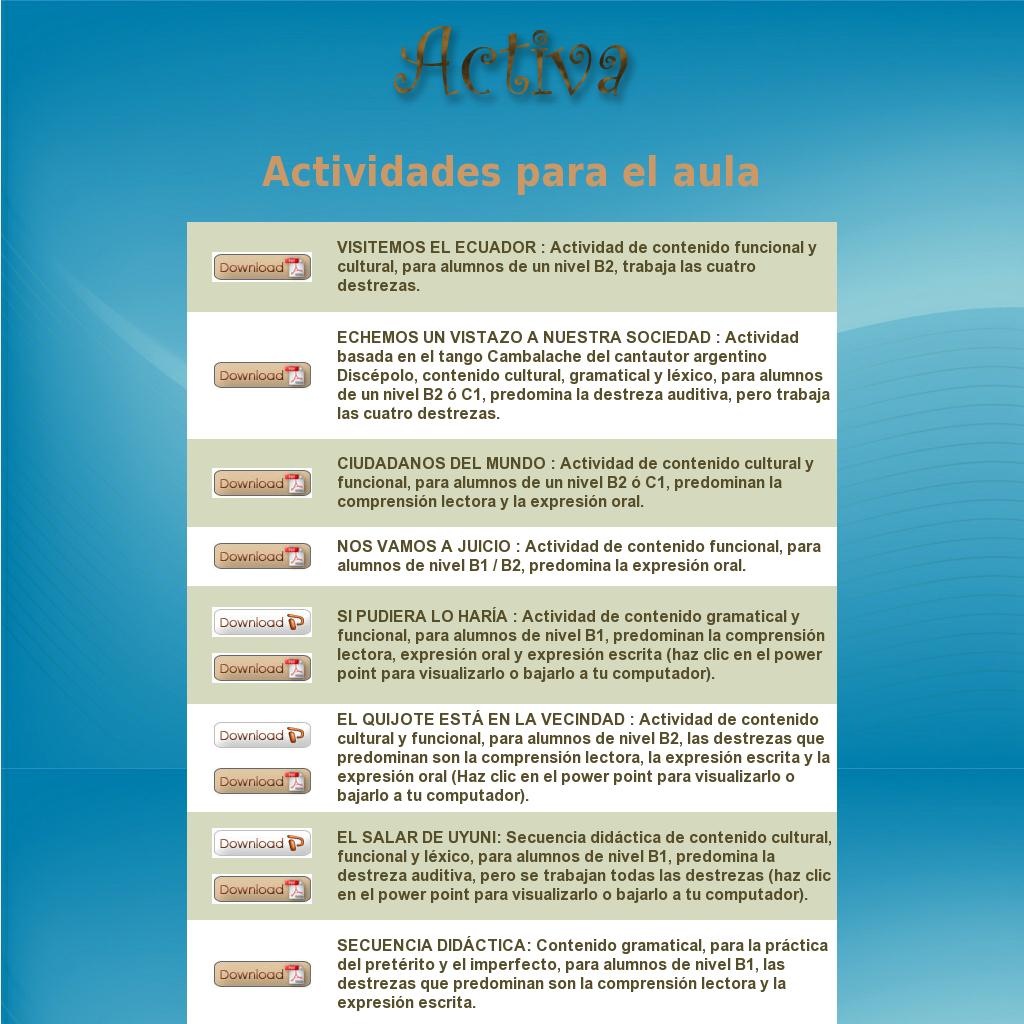 Activa Ele Materiales Para El Profesor Teaching Spanish High School Spanish Teaching
