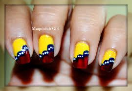Decoradas Bandera De Venezuela Nails Art Nails Colombia Y