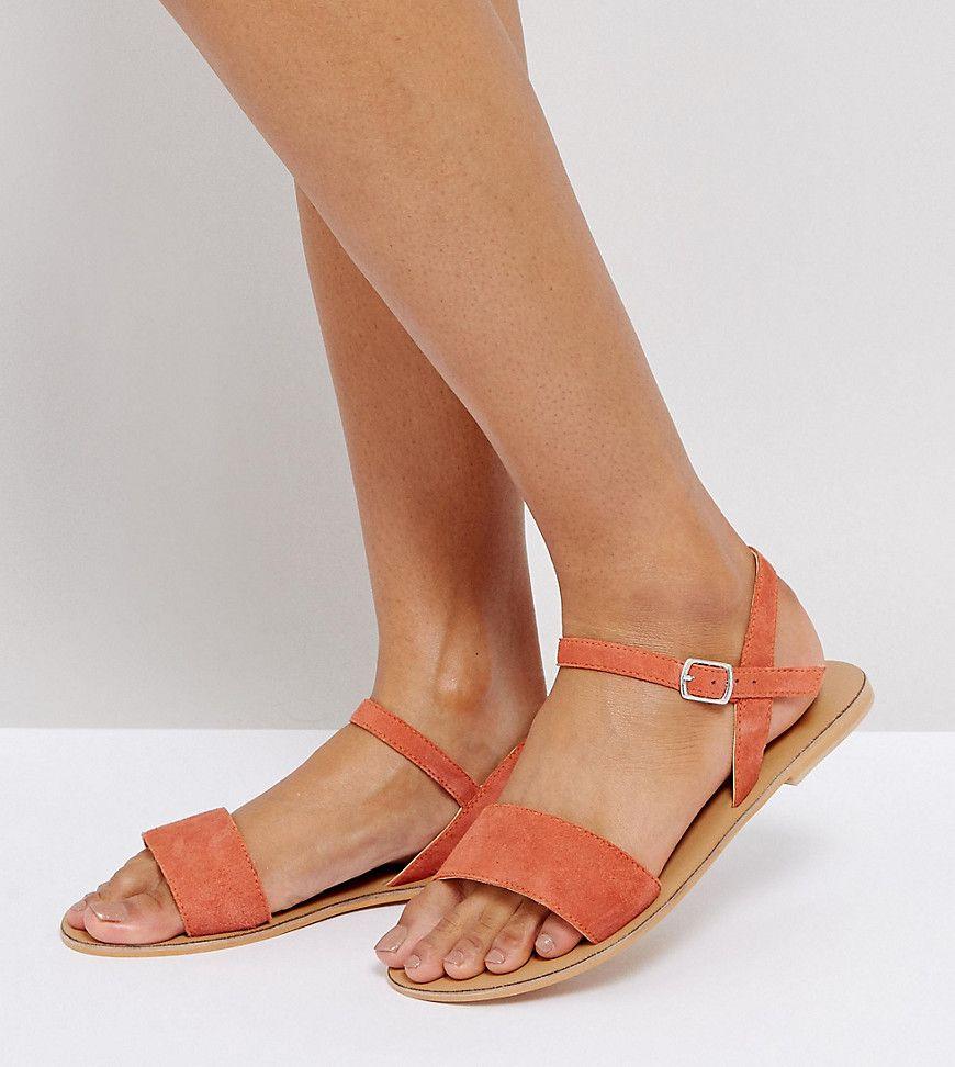 Orange Orange Orange Products FLIQUEY Leather Fit Wide ASOS Sandals Sandals Sandals Sandals Flat Y8qP4w6T