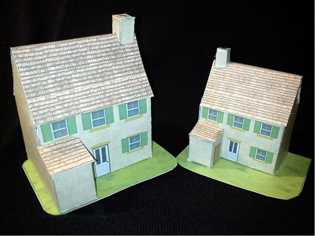 Cardmodels FRENCH FARMHOUSE Shown In 20mm And 15mm