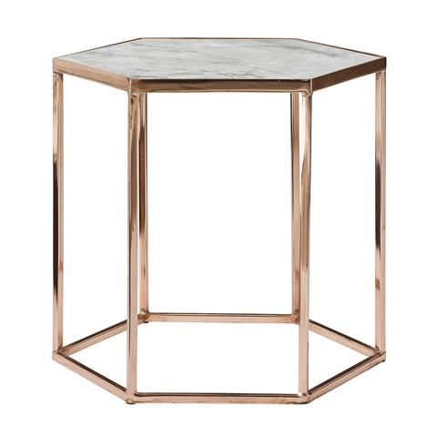 Copper and Marble Hexagonal Table http://www.house-envy.co.uk/copper ...