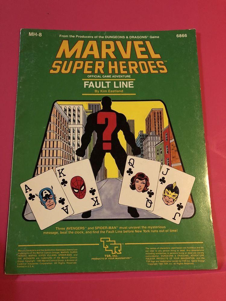 MH8 - Fault Line - Marvel Super Heroes - MSH TSR Number 6866