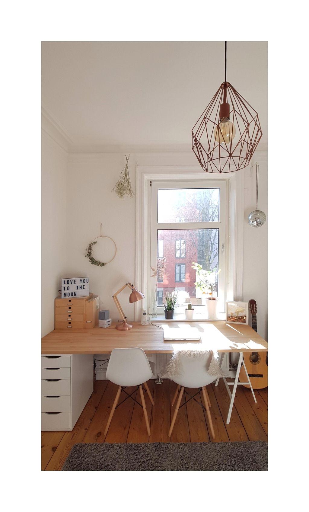 Schreibtisch Mit Ikea Tischbock Und Schubladenschran In 2019