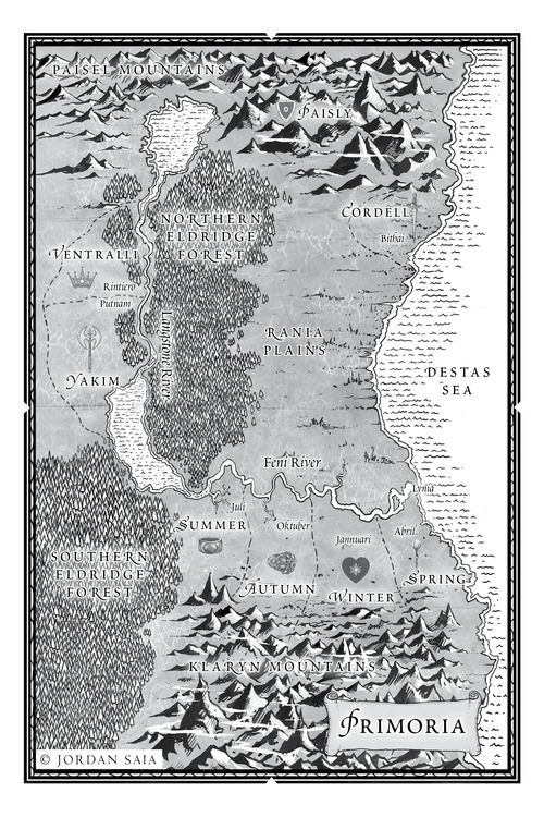 SNOW LIKE ASHES: Map of Primoria