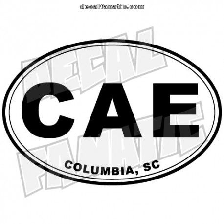 The cae columbia sc euro oval is a high quality vinyl decal from decalfanatic