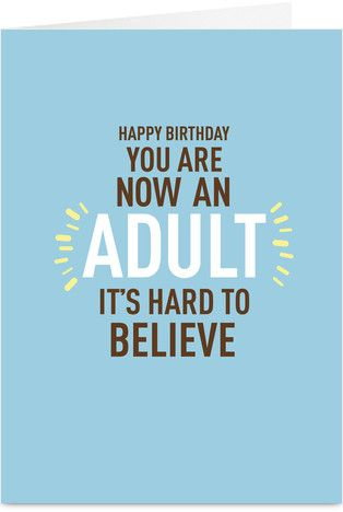 Youre An Adult Funny Birthday Card