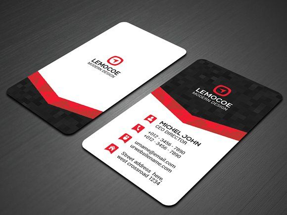 Vertical business card by vazon on creativemarket design vertical business card by vazon on creativemarket wajeb Image collections