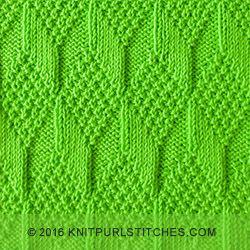 Reliëfpatronen (knit en purl stitches) worden gebreid door rechte en averechte steken af te wisselen. Het leuke is dat er zoveel variaties mogelijk zijn.