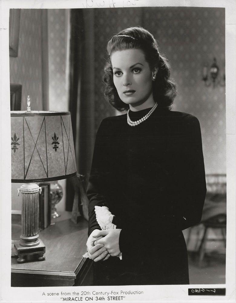 Maureen Ohara Miracle On 34th Street 1947 Original Scene Portrait