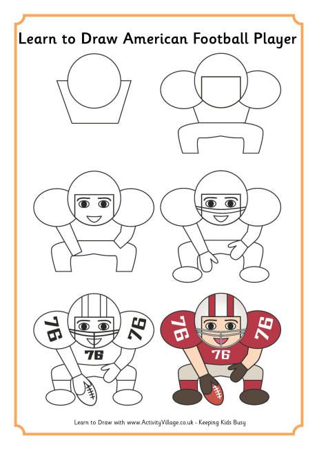 Learn To Draw An American Football Player Interessant