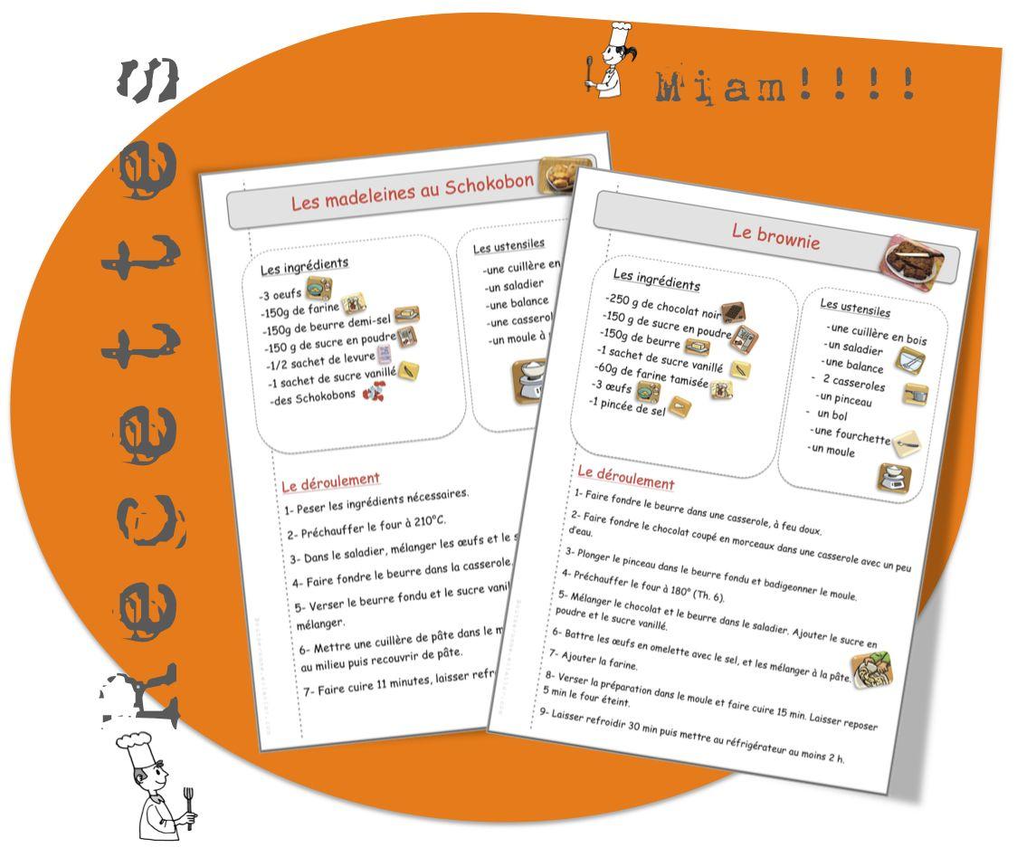 Bien connu Recettes de cuisine pour la classe | Ma classe, Recettes de  KC26