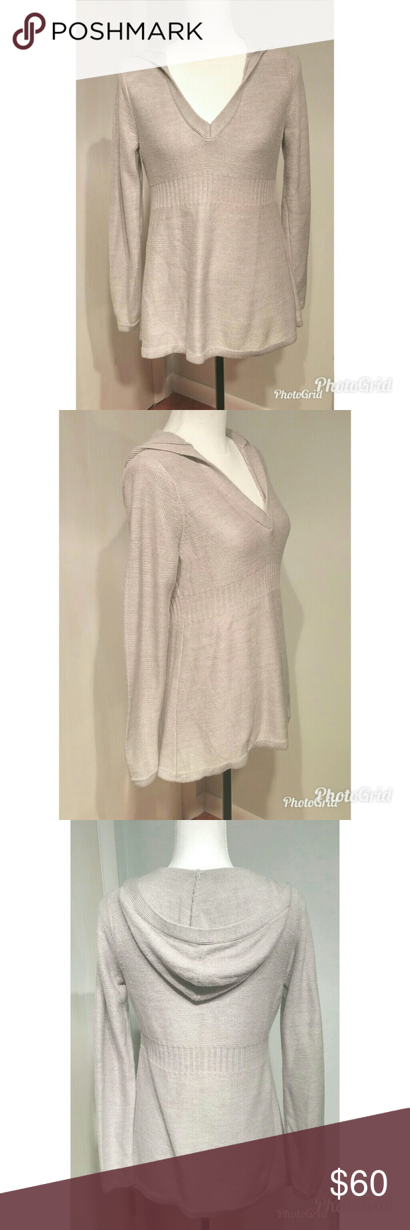 🍁Price Drop🍁 Adorable Gray Hooded Tunic Sweater | Tunic sweater ...