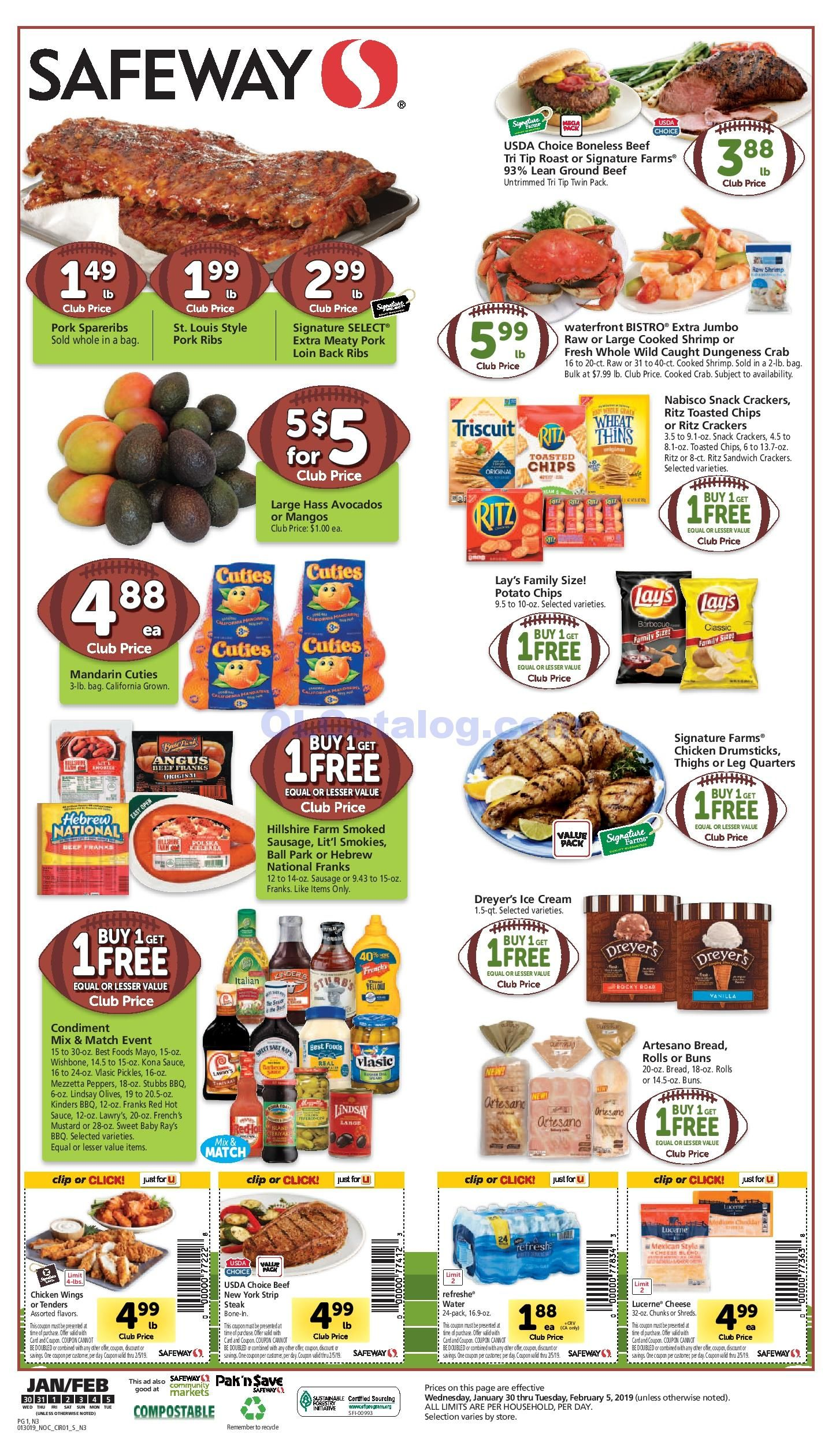 Safeway Weekly ad January 30 February 5, 2019. Find