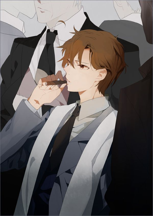 Lovino As A Mafia Boss Art By Sousou He Looks So Cool