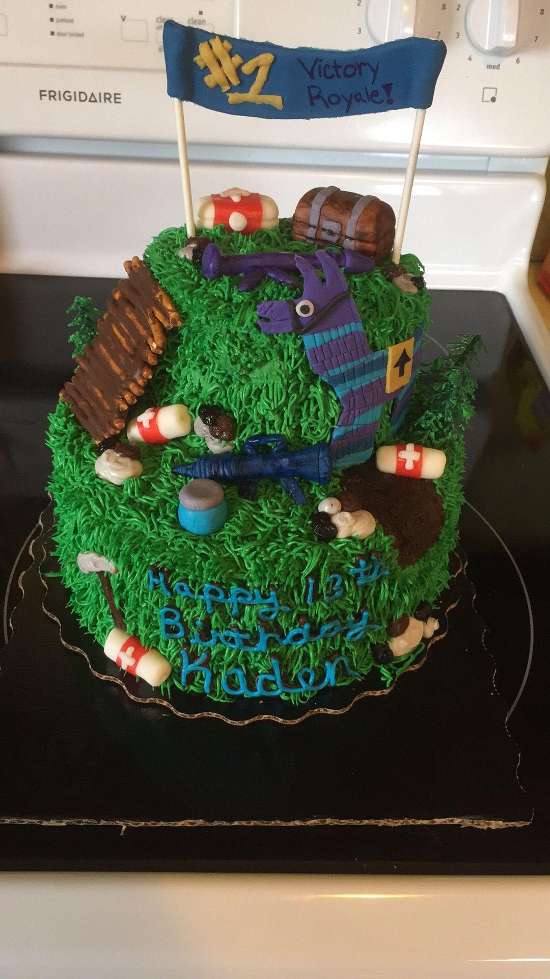 DIY, Fortnight, Battle Royale, loot llama Diy cake, Cake