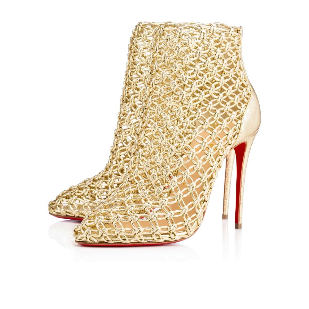 9eb2866e5df CHRISTIAN LOUBOUTIN Andaloulou 100Mm Gold Leather.  christianlouboutin   shoes
