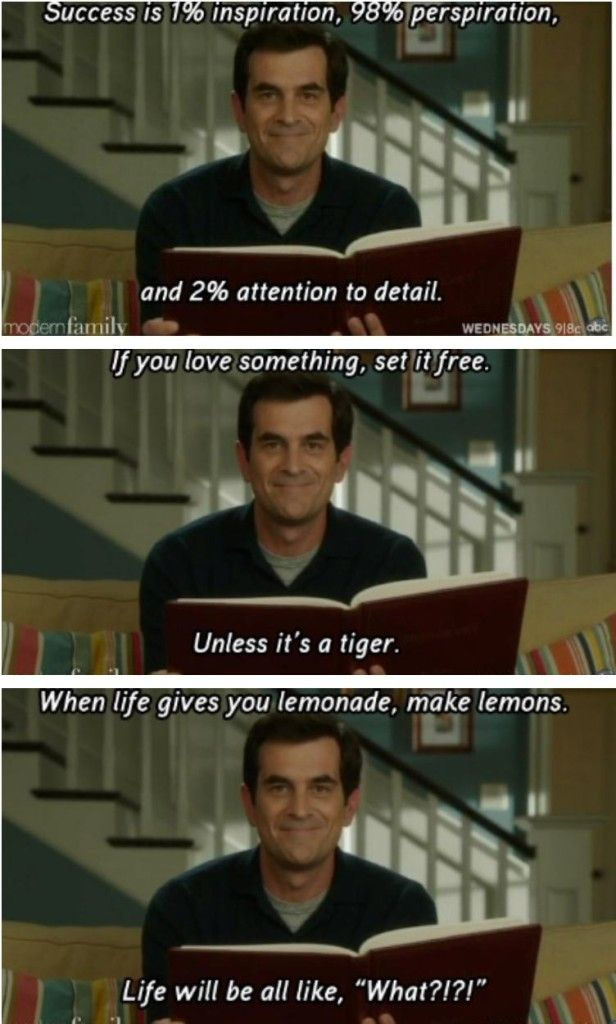 The Best Quotes From Our Favorite Dad Phil Dunphy Modern Family Memes Modern Family Phil Modern Family Funny