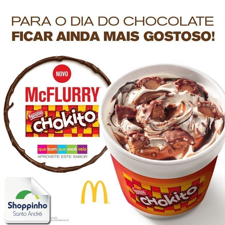 Venha comemorar esse dia doce com a gente! \o/ Eu já comi e você? Hummm   #Delícia #Sorvete #McDonalds #Sobremesa