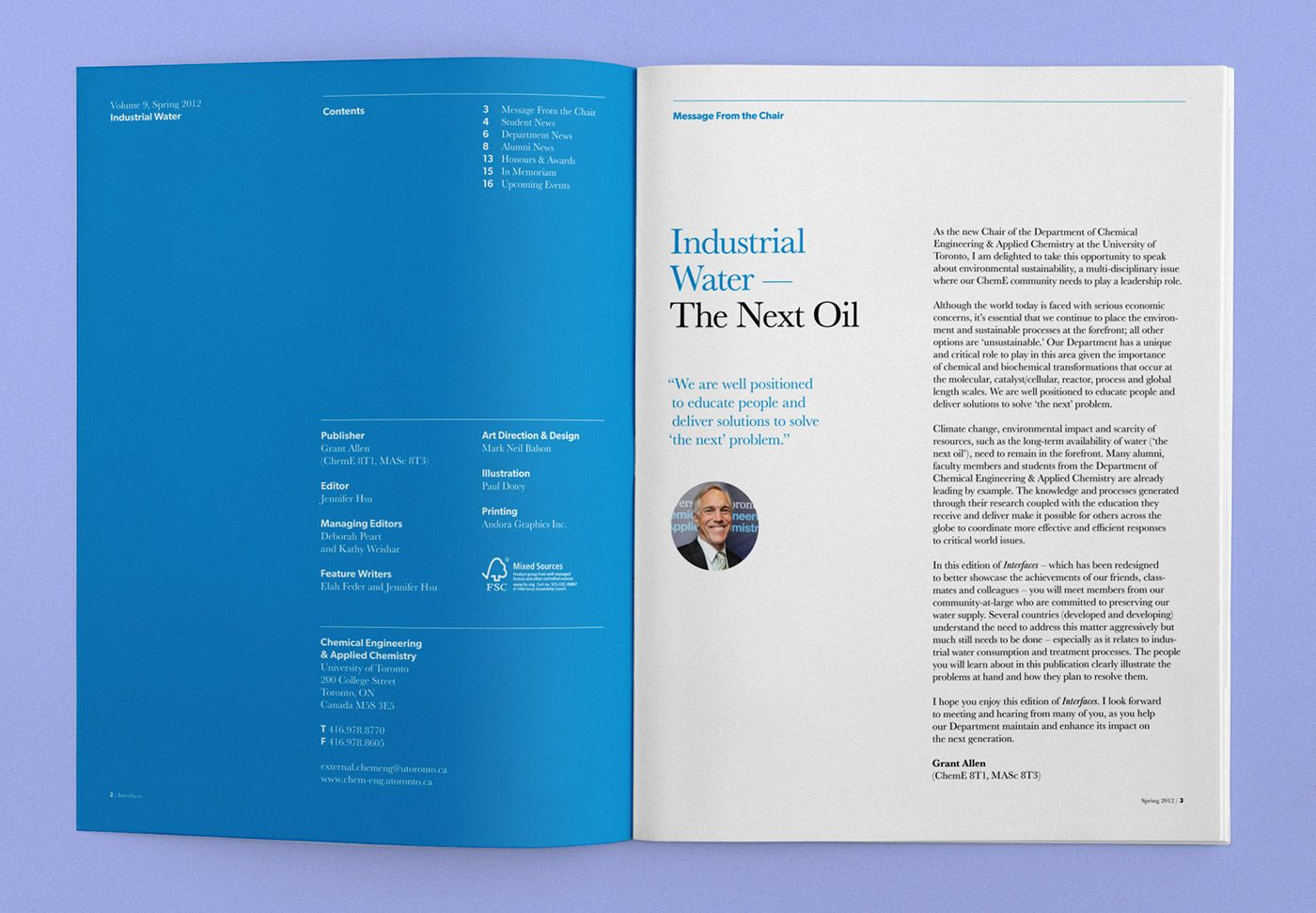 Interfaces Magazine, Issue 9: Industrial Water on Behance