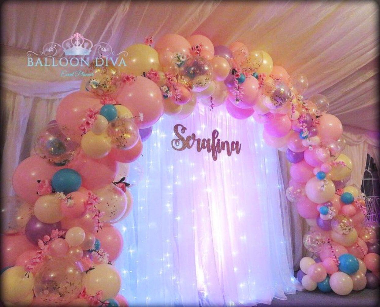 Organic Balloon Arch Balloons Princess Balloons Balloon Arrangements