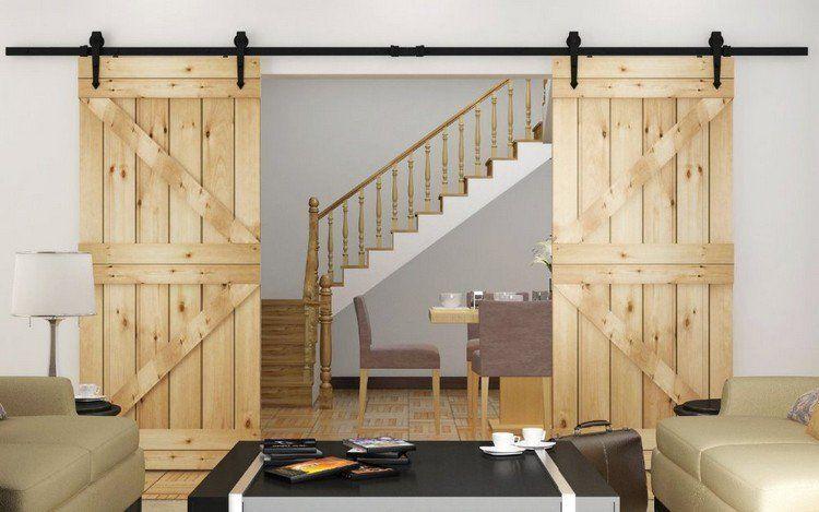 Porte Coulissante Suspendue De Style Grange Ou Moderne U2013 Un Accent Original  De Lu0027intérieur Et De Lu0027extérieur