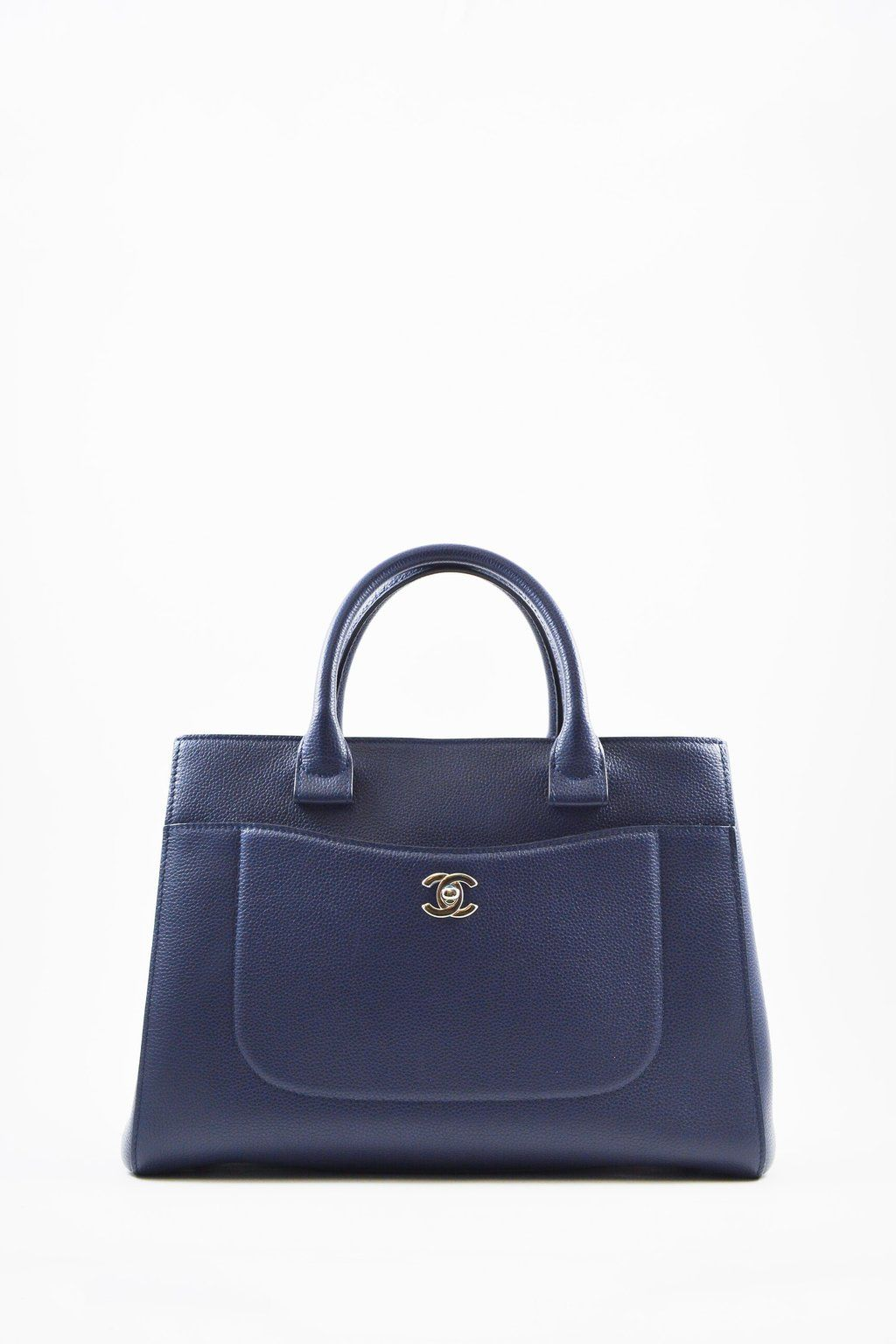 c2175e188d8 Chanel Navy Neo Executive Tote  MineAndYours