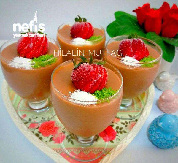 Ev Yapımı Çikolatalı Puding #chocolatestrawberrysmoothie