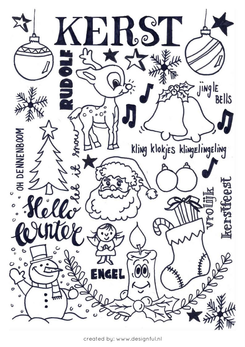 handlettering kerst kerst bullet journal inspiratie