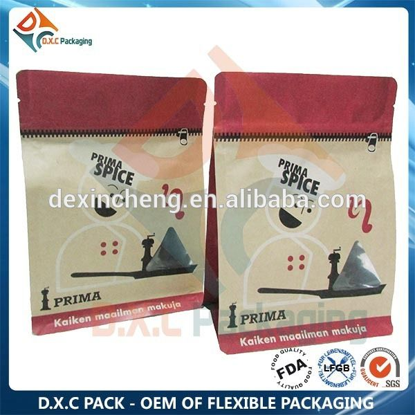 2015 New Product Flat Bottom Ziplock Bags, Box Bottom Ziplock Bags, Box Pouch With Ziplock, View flat bottom ziplock bags , OEM of paper bag with pocket zipper Product Details from Foshan De Xin Cheng Plastic Packaging Co., Ltd. on Alibaba.com